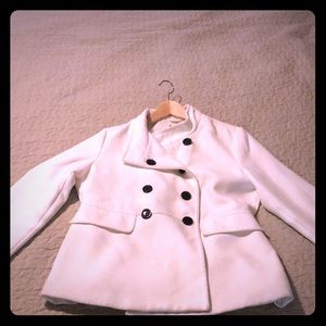 Cream pea coat